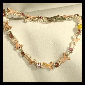 Avon pink ribbon bracelet